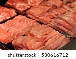 different types of raw meat in... | Shutterstock . vector #530616712