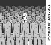 unique man in the crowd vector... | Shutterstock .eps vector #530623576