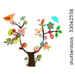 fantasy tree | Shutterstock .eps vector #53062558