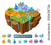 Isometric Gaming Island With...