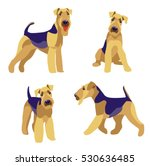 airedale terrier dogs set on a... | Shutterstock .eps vector #530636485