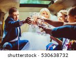 happy newlyweds and their... | Shutterstock . vector #530638732