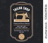 vector tailor emblem  signage | Shutterstock .eps vector #530639836
