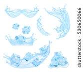 blue water splash. mesh with... | Shutterstock .eps vector #530650066