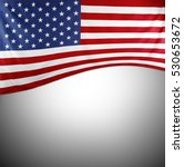 closeup of american flag on... | Shutterstock . vector #530653672