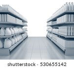 set of shelves with many goods... | Shutterstock . vector #530655142