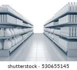 set of shelves with many goods... | Shutterstock . vector #530655145