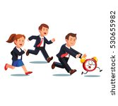 late business man and woman... | Shutterstock .eps vector #530655982