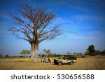 a group of adventurers resting...   Shutterstock . vector #530656588