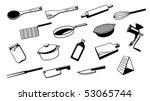 set of silhouette vector... | Shutterstock .eps vector #53065744