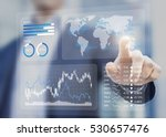 financial dashboard with key... | Shutterstock . vector #530657476