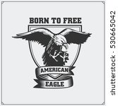 eagle heraldry coat of arms.... | Shutterstock .eps vector #530665042