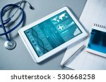 White tablet pc and doctor...