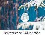 White Christmas Ball On The...