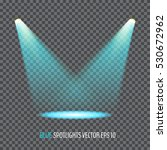glowing blue spotlights. pair...   Shutterstock .eps vector #530672962