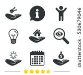 helping hands icons. financial... | Shutterstock .eps vector #530679046