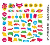 web stickers  banners and... | Shutterstock .eps vector #530680582