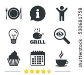 food and drink icons. muffin... | Shutterstock .eps vector #530681758