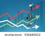 business people running on... | Shutterstock .eps vector #530685022
