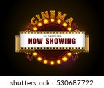 theater sign.brightly theater... | Shutterstock .eps vector #530687722