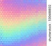 holographic geometric vector... | Shutterstock .eps vector #530688832