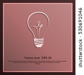 bulb icon | Shutterstock .eps vector #530691046