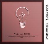bulb icon | Shutterstock .eps vector #530691046