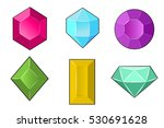 vector set of jewels | Shutterstock .eps vector #530691628