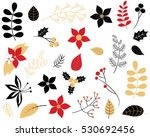 elegant winter foliage set  ... | Shutterstock .eps vector #530692456