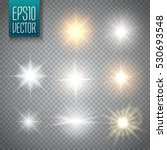 set of glowing light stars with ...   Shutterstock .eps vector #530693548