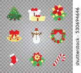 new year icons. christmas... | Shutterstock .eps vector #530694646