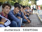 Small photo of Afghan and Pakistani refugees waiting for daily work in Istanbul, Turkey, 12 July 2016