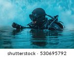 Frogman with weapons