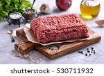 raw minced beef on a cutting... | Shutterstock . vector #530711932