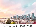 Stock photo photo of autumn sunset at downtown vancouver canada 530715352