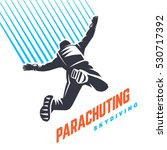 parachuting. sport emblem | Shutterstock .eps vector #530717392