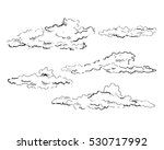 collection of hand drawn vector ... | Shutterstock .eps vector #530717992