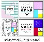 summer sale banners. memphis... | Shutterstock .eps vector #530725366