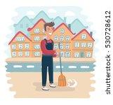vector funny illustration of... | Shutterstock .eps vector #530728612