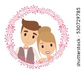 couple of newlyweds frame... | Shutterstock .eps vector #530729785