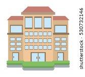 big building style icon vector... | Shutterstock .eps vector #530732146