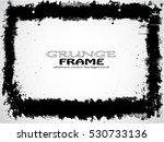 grunge frame. vector template | Shutterstock .eps vector #530733136