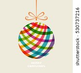 christmas doodle ball. cute... | Shutterstock .eps vector #530737216