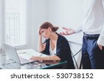 stress at work  emotional... | Shutterstock . vector #530738152