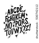 hand lettering sketch font.... | Shutterstock .eps vector #530742112