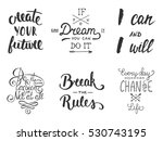 set of vector inspirational and ... | Shutterstock .eps vector #530743195