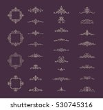 vintage decor elements and... | Shutterstock .eps vector #530745316