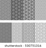 illusion cube patterns set.... | Shutterstock .eps vector #530751316