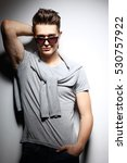 sexy young man in fashion style.... | Shutterstock . vector #530757922