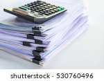 stack of business report paper... | Shutterstock . vector #530760496